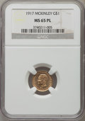 Commemorative Gold, 1917 G$1 McKinley MS65 Prooflike NGC....