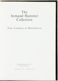 Books:Art & Architecture, [Art Exhibition Catalog]. Armand Hammer. INSCRIBED/LIMITED. The Armand Hammer Collection: Four Centuries of Masterpieces...