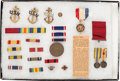 Military & Patriotic:WWI, Lot of Military Insignia Identified to Lieutenant Junior GradeLoyal A. Dixon....