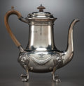 Silver Holloware, British:Holloware, A CARRINGTON & CO. LATE VICTORIAN SILVER COFFEE POT, circa1888-1889. Marks: (lion passant), (leopard's head), JBC, C.9...