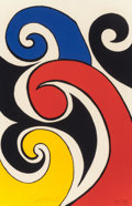 Fine Art - Work on Paper:Print, ALEXANDER CALDER (American, 1898-1976). Les Vagues.Lithograph in colors. 19-1/2 x 12-3/4 inches (49.5 x 32.4 cm). Ed.5...