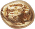 Ancients:Greek, Ancients: LYDIAN KINGDOM. Time of Alyattes (ca. 610-561 BC). ELthird-stater or trite (13mm, 4.72 gm). ...
