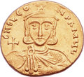 Ancients:Byzantine, Ancients: Leo III the Isaurian (AD 717-741), with Constantine V (AD720-775). AV solidus (20mm, 4.42 gm, 6h)....
