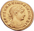 Ancients:Roman Imperial, Ancients: Constantine II, as Caesar (AD 317-337). AV solidus (20mm,4.44 gm, 6h)....