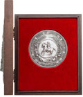 Military & Patriotic:Civil War, Sterling Silver One-Pound Disk of the Great Seal of the Confederacy....