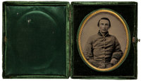 Ambrotype Image of Confederate Captain Henry Luse Foules, Buck's Company, Mississippi, Killed in Action at Atlanta, June...