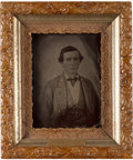 Photography:Tintypes, Rare Full Plate Tintype of Confederate Major John M. Lyles, 17thMississippi Infantry....