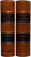 Military & Patriotic:Civil War, First Edition Two-Volume Set of Jefferson Davis' The Rise and Fall of the Confederate Government, Inscribed by the A...