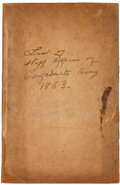 Military & Patriotic:Civil War, Rare Original Work: List of Staff Officers of the Confederate States Army, 1861-1865....