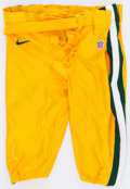 Football Collectibles:Uniforms, 1999 Green Bay Packers Game Issued Pants - Largest We've Seen!...