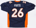 Football Collectibles:Uniforms, Clinton Portis Signed Denver Broncos Jersey - Personalized to Daunte Culpepper....