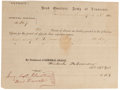 Miscellaneous:Ephemera, Confederate Leave of Absence....