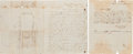 Autographs:Military Figures, Confederate 26th Texas Cavalry: 1st Sergeant William C. Smith TwoAutograph Letters Signed with a Sketch of the Execution of D...(Total: 2 )