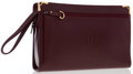 "Luxury Accessories:Bags, Cartier Burgundy Leather Clutch Bag. Excellent Condition.9.5"" Width x 7"" Height x 2.5"" Depth, 6"" Handle Drop. ..."