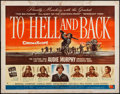 "Movie Posters:War, To Hell and Back (Universal International, 1955). Half Sheet (22"" X28"") Style B. War.. ..."