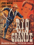 "Movie Posters:Western, Rio Grande (Mondial Film, R-1960s). French Grande (45.25"" X 60"").Western.. ..."