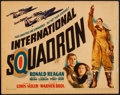 "Movie Posters:War, International Squadron (Warner Brothers, 1941). Title Lobby Card(11"" X 14""). War.. ..."