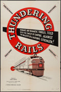 "Movie Posters:Short Subject, Thundering Rails (Universal International, 1950). One Sheet (27"" X41""). Short Subject.. ..."