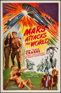 "Movie Posters:Science Fiction, Mars Attacks the World (Filmcraft, R-1950). One Sheet (26.75"" X 41""). Science Fiction.. ..."