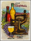 """Movie Posters:Miscellaneous, Wines from California (Wine Advisory Board, 1960s). Tourism Poster (21.25"""" X 28.25""""). Miscellaneous.. ..."""