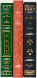 Books:Literature Pre-1900, [Drama]. Voltaire, Molière and Jean Racine. Group of Three FranklinLibrary Titles. Franklin Center: Franklin Library, vario... (Total:3 Items)