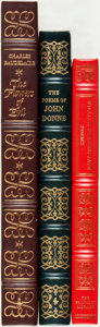 Books:Literature Pre-1900, [Poetry]. Charles Baudelaire, John Donne and William Shakespeare.Group of Three Easton Press and Franklin Library Titles. V...(Total: 3 Items)