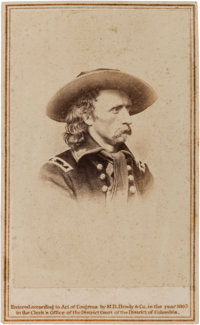 George Armstrong Custer Carte de Visite from a Mathew Brady Photograph