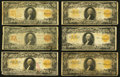 Large Size:Gold Certificates, $20 1906 and 1922 Gold Certificate Group Lot Twenty-two ExamplesGood or Better.. ... (Total: 22 notes)