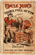 Books:Literature Pre-1900, Two Copies of Uncle Josh's Trunk-Full of Fun. New York: Dick and Fitzgerald, 1869 and [n.d., ca. 1860s]. Publisher's...