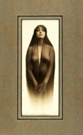 "Books:Photography, Original Sepia Toned Photographic Print of ""Kaloma"". [N.p., n.d.,ca. 1914]. Photographic print of nude model labeled ""Kalom..."