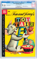 Silver Age (1956-1969):Humor, Dell Giant Comics: Tom and Jerry Toy Fair #1 30-Cent Price Variant (Dell, 1958) CGC NM+ 9.6 Off-white to white pages....