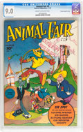 Golden Age (1938-1955):Funny Animal, Animal Fair #9 Crowley Copy/File Copy (Fawcett Publications, 1946)CGC VF/NM 9.0 Cream to off-white pages....