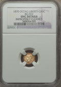 California Fractional Gold: , 1870 50C Liberty Octagonal 50 Cents, BG-922, R.3, -- ImproperlyCleaned -- NGC Details. Unc. NGC Census: (0/16). PCGS Popul...
