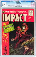 Golden Age (1938-1955):Horror, Impact #2 Gaines File pedigree (EC, 1955) CGC NM 9.4 Off-white towhite pages....