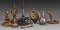 Bronze:European, EIGHT CONTINENTAL AND AMERICAN ART NOUVEAU BRONZE AND METAL FIGURALDESK ACCESSORIES, circa 1900. Marks to nude: (amphora-B)... (Total:8 Items)