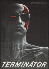 "The Terminator (Orion, 1984). Czech Poster (11"" X 15.5""). Science Fiction"