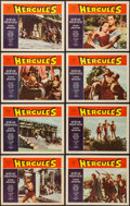 "Movie Posters:Action, Hercules (Embassy, 1959). Lobby Card Set of 8 (11"" X 14""). Action..... (Total: 8 Items)"