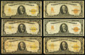 Large Size:Gold Certificates, Large Size $10 Gold Certificates Nineteen Examples.. ... (Total: 19notes)
