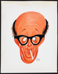 """Movie Posters:Miscellaneous, Phil Silvers by Al Hirschfeld (TV Guide, 1957). Color Art Print (12.75"""" X 16.25"""") & Magazine (32 Pages, 5"""" X 7.5""""). Miscella... (Total: 2 Items)"""