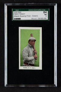 """1910 E98 """"Set of 30"""" Fred Tenney, Green SGC 84 NM 7"""