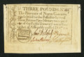 Colonial Notes:North Carolina, North Carolina December, 1771 £3 Fine-Very Fine.. ...