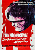"Movie Posters:Horror, Frankenstein Conquers the World (Constantin Film, 1967). German A1 (23.25"" X 33""). Horror.. ..."