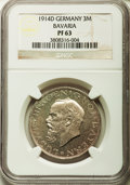 German States:Bavaria, German States: Bavaria. Ludwig III Proof 3 Mark 1914-D PR63 NGC,...
