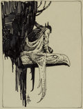Original Comic Art:Sketches, William Stout - Batman Sketch Original Art (1997)....
