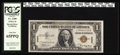 Small Size:World War II Emergency Notes, Fr. 2300 $1 1935A Hawaii Silver Certificate. PCGS Gem New 65PPQ.. While most collectors associate the F-C block with hefty p...