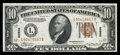 Small Size:World War II Emergency Notes, Fr. 2303 $10 1934A Hawaii Federal Reserve Note. Choice Crisp Uncirculated.. A touch of handling and a narrow lower margin ac...