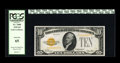 Small Size:Gold Certificates, Fr. 2400 $10 1928 Gold Certificate. PCGS Gem New 65.. Nice margins abound on this note with bright surfaces....