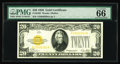 Small Size:Gold Certificates, Fr. 2402 $20 1928 Gold Certificate. PMG Gem Uncirculated 66.. PMG has bestowed the prestigious Exceptional Paper Quality des...