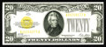 Small Size:Gold Certificates, Fr. 2402 $20 1928 Gold Certificate. Crisp Uncirculated.. This example comes with a vibrant overprint that has a small amount...