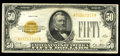 Small Size:Gold Certificates, Fr. 2404 $50 1928 Gold Certificate. Very Fine.. This is a tough note in all grades, with this example being folded into four...